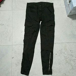 J BRAND olive West Point cargo skinny jeans 26
